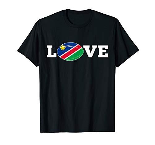 Namibia LIEBE Rugbyball-Flaggen-Fan-Stützgeschenk T-Shirt