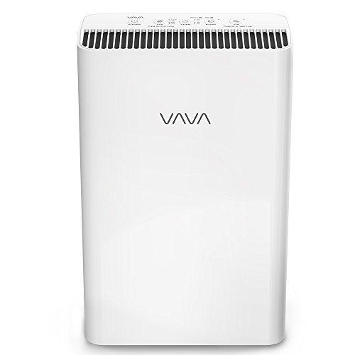 Luftreiniger VAVA mit 4-In-1 Echtem HEPA-Filter Echtzeit-Luftqualitätsanzeige Wohnraum-Luftfiltration entfernt Staub, Moder, Tierhaare, Leiser Betrieb und Automatischer Windmodus (Automatischer Luftreiniger)