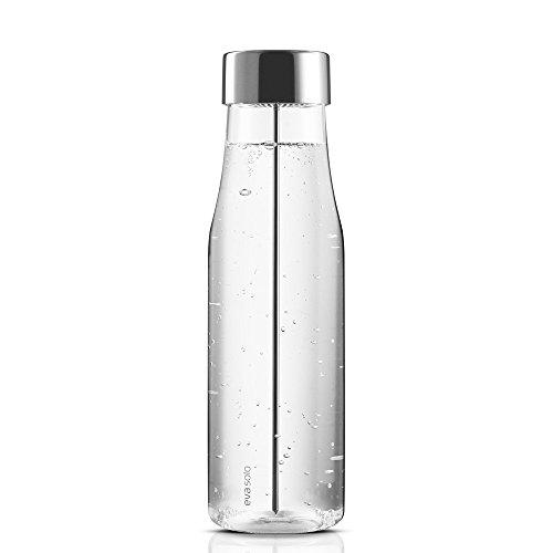 Eva Solo 5706631040556 567483 Wasserkaraffe mit Fruchtspieß, 1 L, Glas, edelstahl, 35 x 30 x 25 cm