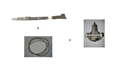 Kit Reparatur Aufsitzmäher AYP 77cm mit Klinge, Keilriemen und Einstufung