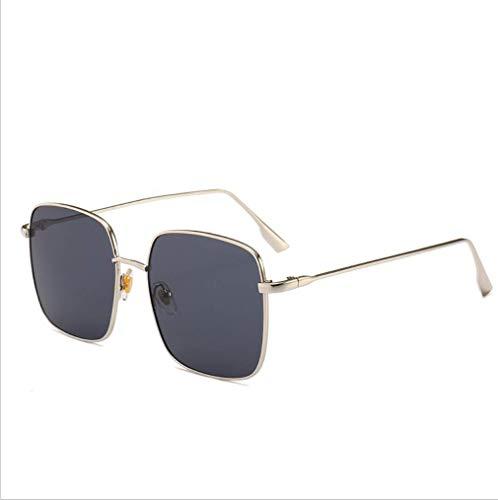 WYJW Für Mädchen \u0026 Damen Klassische Übergroße Sonnenbrille Designer Sport Fashion Star Square Eyewear \u0026 ndash; Gold Metallrahmen Rahmen