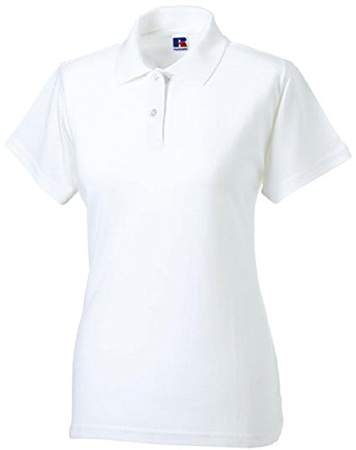 Russell Collection Klassisches Piqué Poloshirt R-569F-0 XL,White