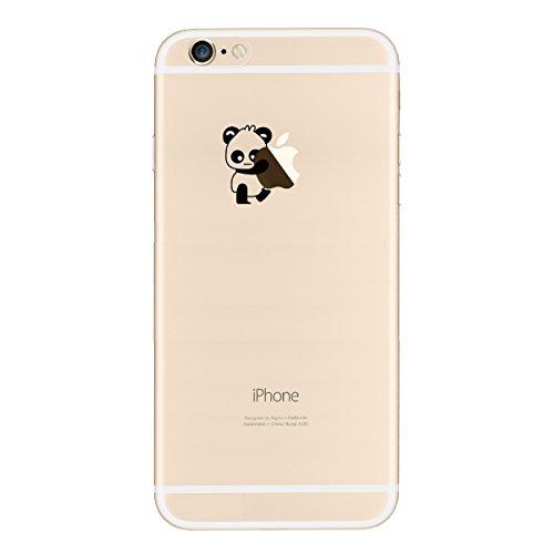Yokata iPhone SE / iPhone 5 / iPhone 5s Hülle Transparent Weiche Silikon Handyhülle Schutzhülle TPU Handy Tasche Schale Etui Weich Silicone Bumper Ultra Dünn Slim Schlank Durchsichtig Handytasche Prem Linker Panda