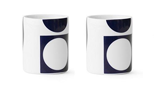 MENU Design Kaffeetassen VERNER PANTON Set 2 Tassen Porzellan blau 4552719