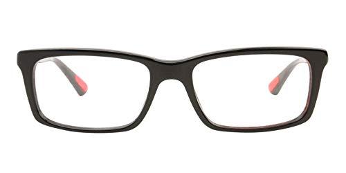 bc18e522e6 Prada Linea Rossa Men s 02c Black Frame Plastic Eyeglasses