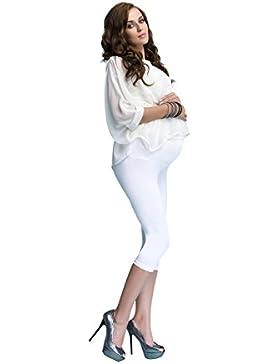 Premaman Leggings Cotone Pantaloncino Corto 3/4 Fuseaux Maternità Molto Confortevole