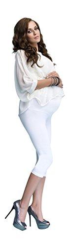 Damen Umstandsleggings Zugeschnitten 3/4 Lange Baumwolle Hose Sehr Bequem Leggings