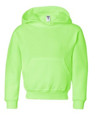 Youth 8 oz. NuBlend� Fleece Pullover Hood NEON GREEN M (Jerzees-baumwolle-pullover)
