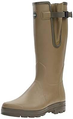 Le Chameau Vierzon BTE/J/H VIERZ M Men's Jersey Lined Wellington Boots, Green (B200 Green), 6.5 UK (40 EU)