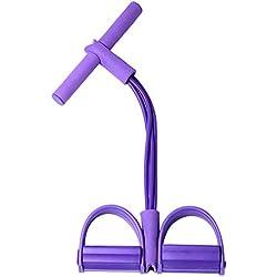 HSincerely Banda de Resistencia Banda de Ejercicios Elásticos de Fitness Ejercicio Muscular Cuerda de Tubo de Yoga para Terapia Física Entrenamiento en Casa Formación púrpura 52 * 28