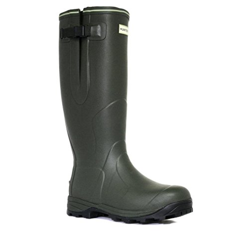 Hunter Unisex Balmoral 3mm Neoprene-Lined Wellington Boot, Dark Olive UK8