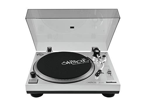 Omnitronic BD-1350 Plattenspieler silber | Riemengetriebener DJ-Turntable | Lieferung inkl. Tonabnehmer