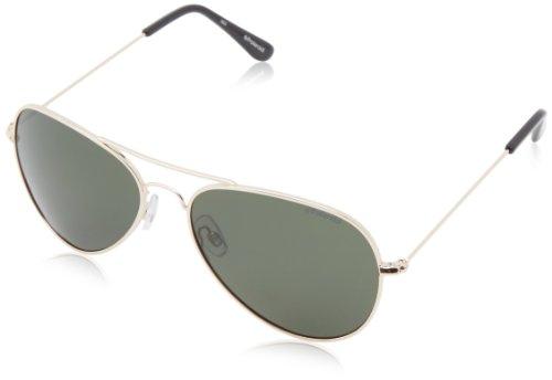 Polaroid 04213 h8 00u 58 occhiali da sole, rettangolari, 58, gold/green