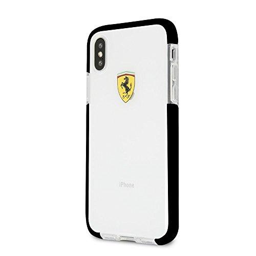 CG Mobile iPhone X Ferrari Handy Fall, on Track Collection, TPU/PC Schwarz Transparent Stoßdämpfung Fall mit Racing Shield Design und Einfach zugänglich Anschlüsse