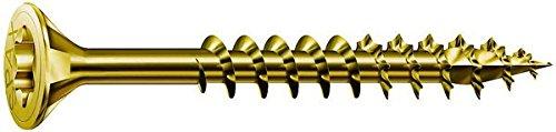 Vis bois tête fraisé T20 - Ø 4,5 mm - 50/32 mm - Zingué jaune - Boîte de 500 pièces - Spax