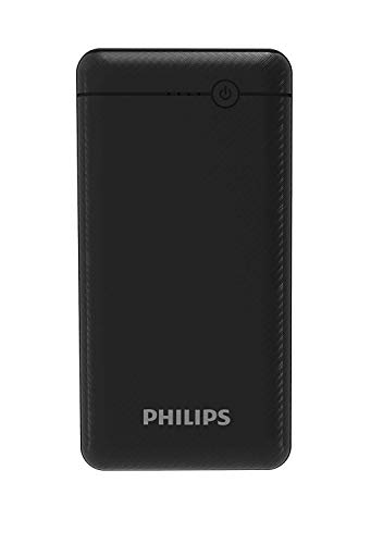 Best philips power bank in India 2020 Philips DLP1720CV Fast Charging Power Bank 20000mAh with Lithium Polymer Battery Black (Twin USB Output Port 3.1A, with Micro USB and Type c Input Image 3