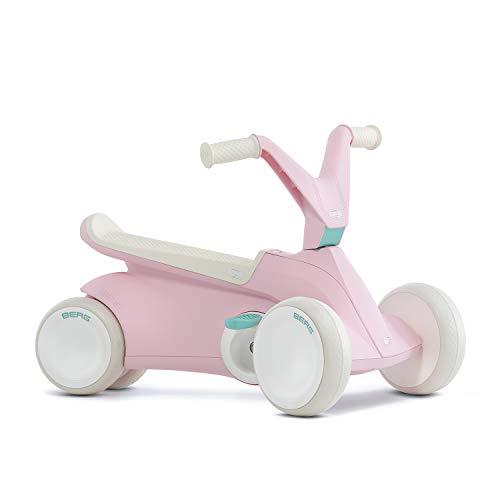 BERG 2in1 Rutschauto, Pedal-Gokart und Laufrad, Ausklappbare Pedale, Für Kinder ab 10 Monaten bis 2,5 Jahren, Bis 20 kg, BERG GO², Pink