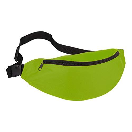 Dupeakya Sport Schulter Tasche Damen Herren Outdoor Taschen Reiten Korean Fashion Nylon Material Sporttasche Geeignet für Männer und Frauen - Grün