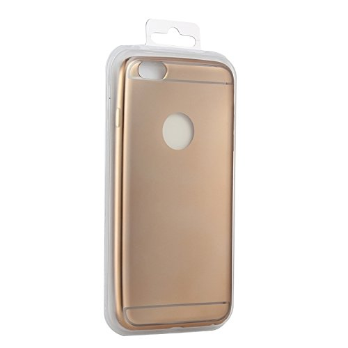 Phone case & Hülle Für iPhone 6 Plus / 6s Plus, Galvanisieren TPU Schutzhülle ( Color : Black ) Gold