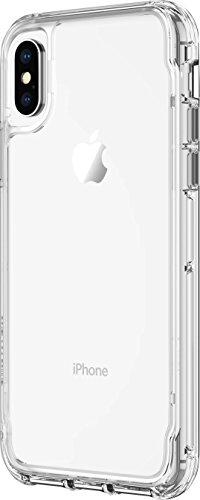 Griffin Survivor Clear Case Schutzhülle nach Militärstandard für Apple iPhone Xs / X [Kratzfeste Beschichtung I Dünnes Design I Stoßdämpfende Ecken I Qi kompatibel] (transparent) - TA43934 Griffin Haut