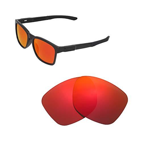 Walleva Ersatzgläser für Oakley Catalyst Sonnenbrillen - Verschiedene Optionen erhältlich, Unisex-Erwachsene, Fire Red Mirror Coated - Polarized, Einheitsgröße
