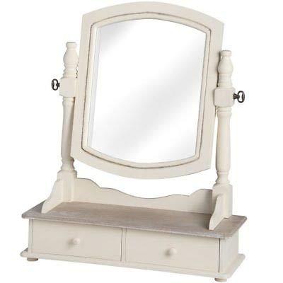 Generic ITH DRAWERSTWO Drawers Drawers Drawers 2 tiroirs Country Table Miroir avec Table de Robe de Pays M