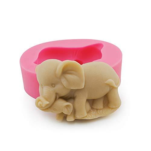 Bonbons, Bad Seife (Chokov Silikonform Elefant, für Fondant, Süßigkeiten, Zuckerpaste, Kuchendekoration, Seife, Badebombe, Werkzeug)