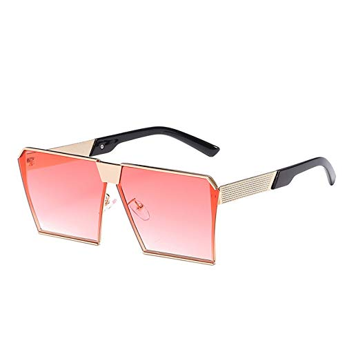 Sonnenbrillen. Fashion Brand Design Damen Große Quadratische Sonnenbrille Frauen/Männer Vintage Flache Oberseite Rahmenlose Spiegel Schattierungen Weiblichen Uv400 Outdoor Reisen Sommer Staub