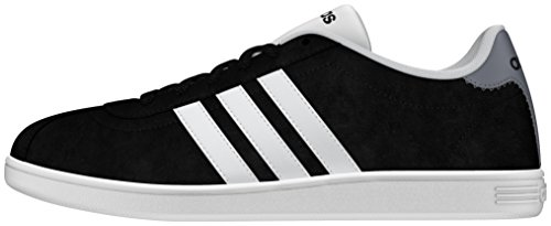 Adidas Men's Black (Negbas / Ftwbla / Grey) Vlcourt Trainers Shoes -...
