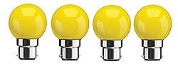 Syska SKC-0.5W-Y Base B22 0.5-Watt LED Glass Bulb (Yellow)