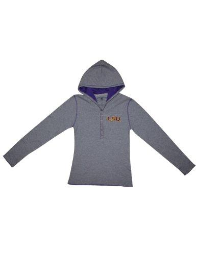 NCAA LSU Tigers Mädchen Slim Fit Langarm-Kapuzenshirt-T-Shirt XL(16) Grau (Mädchen Tigers Lsu)