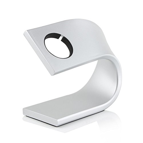 NICERIO Aluminium Uhr Ständer für Apple Watch,Montieren Ständer Halter Tischständer für Apple Watch, Silber (Uhr Aluminium)