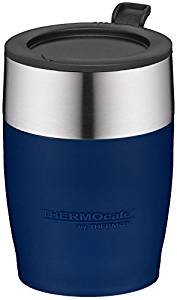 ThermoCafé by Thermos Erwachsene ThermoCafé Trinkbecher Desk Cup, Edelstahl Isoliertasse, blau,...