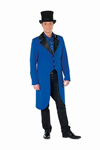 Kostüm Frack Blauer - Herren Kostüm Frack blau-schwarz Karneval Fasching Party Show Gr.48