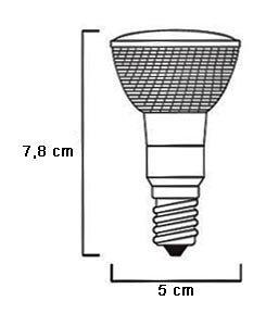 2x KANDOLITE Reflektorlampe Halogenlampe 50W E14 von Kandolite