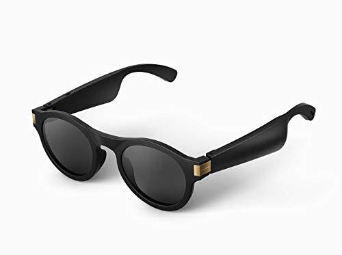 WNZL Knochenleitungskopfhörer-Sonnenbrille, Richtungsübertragungslautsprecher, ultraleichter Rahmen, Wechselobjektive, integriertes Mikrofon für Kopfhörer, Musik, Telefonanruf