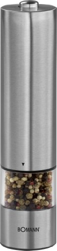 Bomann PSM 437 N CB Molinillo de Pimienta/Sal, diseño en Acero Inoxidable, 23,6 x 5,8 x 5,8 cm