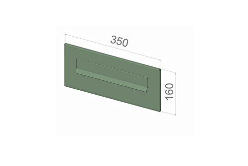 D-041 – Edelstahl Mauerdurchwurf Briefkastenanlage (variable Tiefe) mit Namensschild – Letterbox24.de - 5