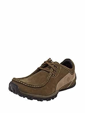 Woodland Men Olive Green Leather 9