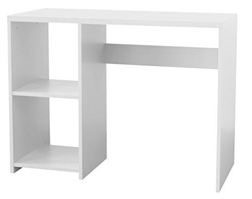 Tenzo 1807-059 Box Designer Schreibtisch, 75 x 100 x 44 cm, Spanplatte laminiert matt, weiß (Laminiertes Holz Farbig)