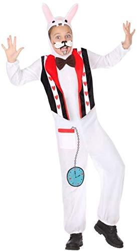 Im Junge Alice Wunderland Kostüm - Jungen Mädchen Weißes Kaninchen Alice im Wunderland Buch Tag Karneval Halloween Kostüm Outfit 3-12 Jahre