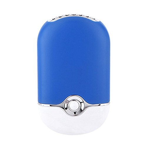 Hrph Nuevo mini verano recargable mini del ventilador USB portátil de mano...
