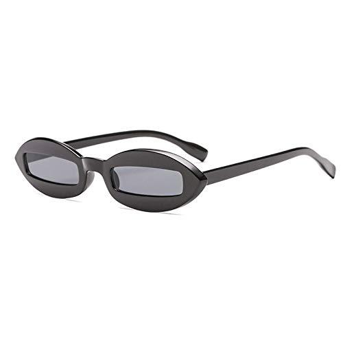 ACKCC Retro ovale SonnenbrilleKleiner RahmenSonnenbrilleweibliches Rechteck weiße Schwarze Brillen