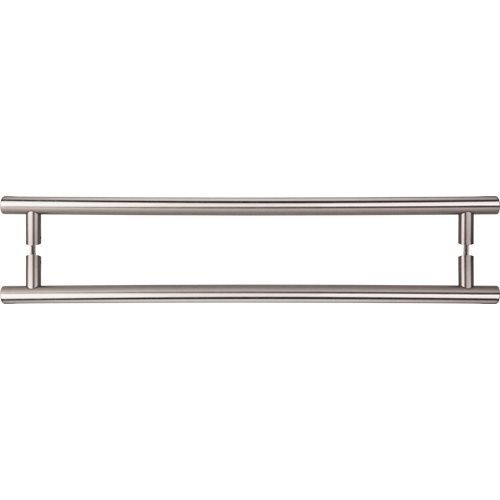 Brushed Satin Nickel Appliance (Top Knobs Hopewell Appliance Pull 18 (c-c) Brushed Satin Nickel Back To Back by Top Knobs)