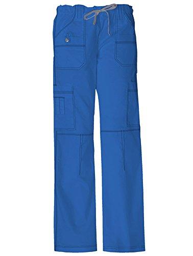 Dickies Medical Scrubs 857455 Women's Jr Fit GenFlex Youtility Cargo Pant Royal Blue X-Large Petite