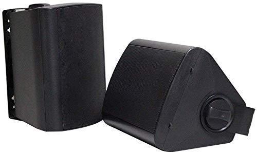 Herdio 4 inch 200 Watts Bluetooth Étanche Haut-parleurs Extérieurs Stereo Montage Mural Extérieur pour Intérieur pour Bateau de Camping-Car Marin, Patio UTV