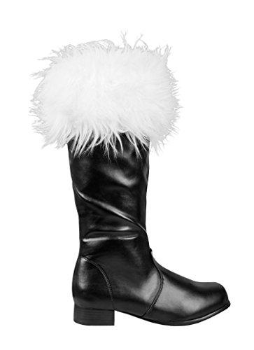 Damen Großbritannien Kostüm Weihnachtsmann - Boland 47151 - Stiefel Santa, 41, schwarz