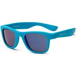 Koolsun pour bébé et enfants Lunettes de soleil Wave Fashion 1 + – Neon Blue Miroir – Protection UV 100% – Optical Clas 1, Cat. 3