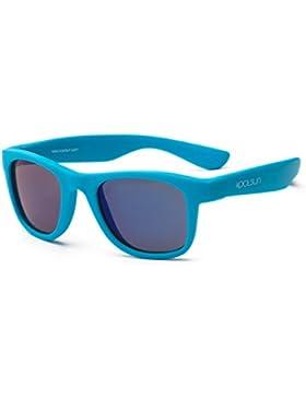 koolsun Niños Gafas de sol Wave Fashion 3+ | Neon Blue VERS piegelt | 100% protección UV | Optical Clas 1, cat. 3