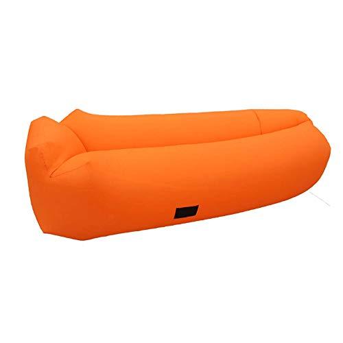 Preisvergleich Produktbild Weastion Sommer wasserdichte Nylon Leicht Zu Reinigen Umweltschutz Verschleißfeste Outdoor Aufblasbares Sofa Faul Aufblasbares Schlafsofa Aufblasbares Sofa Camping Schlafsack (Color : Orange)